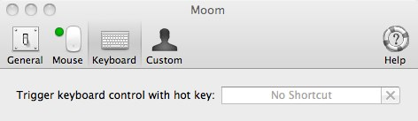 moom with keyboard control setup